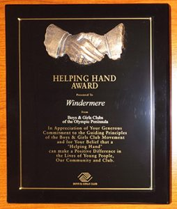 Windermere Helping Hand Award